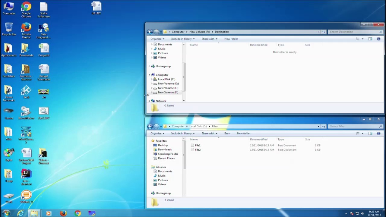 Creating a Batch File to Copy Files in a Local Drive