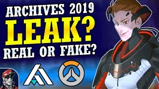 Overwatch - 2019 Archives Event Leak | Real or Fake?