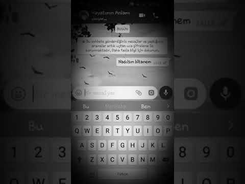 WhatsApp üzücü ayrılık mesajı 😢