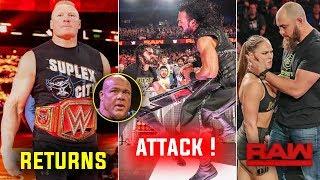 Brock RETURNS - Drew McIntyre Destroys THE SHIELD Last Member ! WWE Raw 18 March 2019 Highlights
