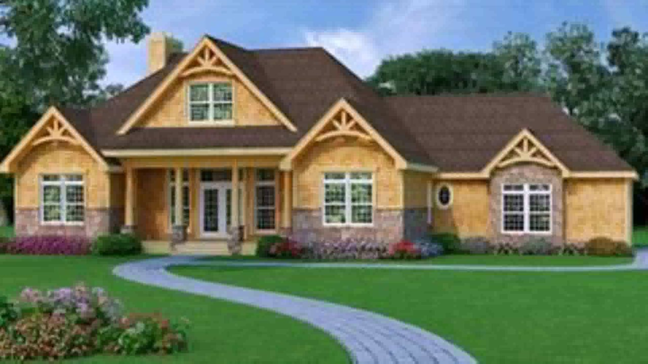 one story house plans with basement craftsman style house plans under 1700 square feet youtube 6883