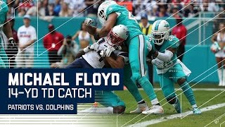 Michael Floyd Battles His Way in for a TD! | Patriots vs. Dolphins | NFL Week 17 Highlights