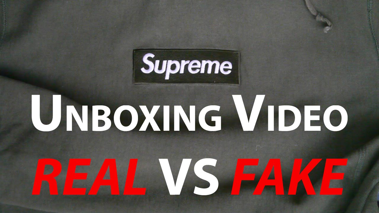 Supreme Olive Box Logo Unboxing REAL vs FAKE - YouTube c302ad078a77
