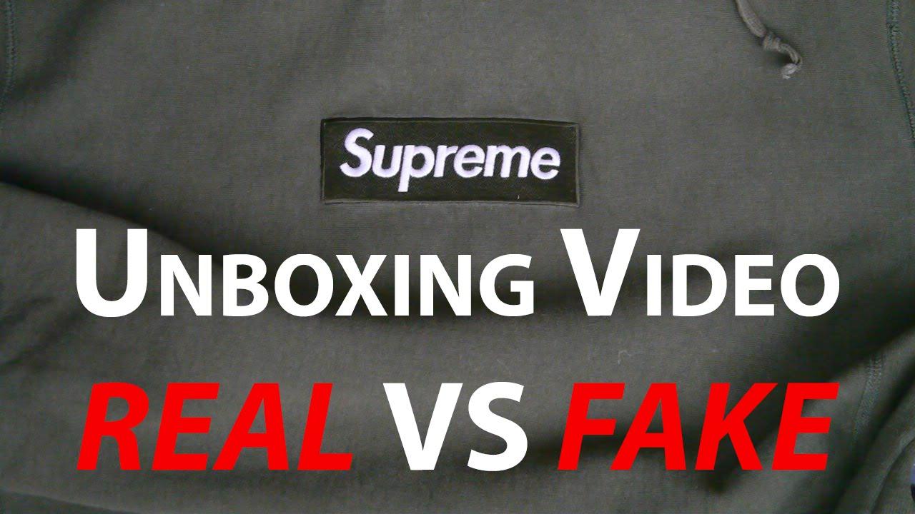 8a31d96e50c6 Supreme Olive Box Logo Unboxing REAL vs FAKE - YouTube