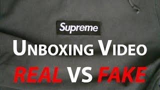 Supreme Olive Box Logo Unboxing REAL vs FAKE