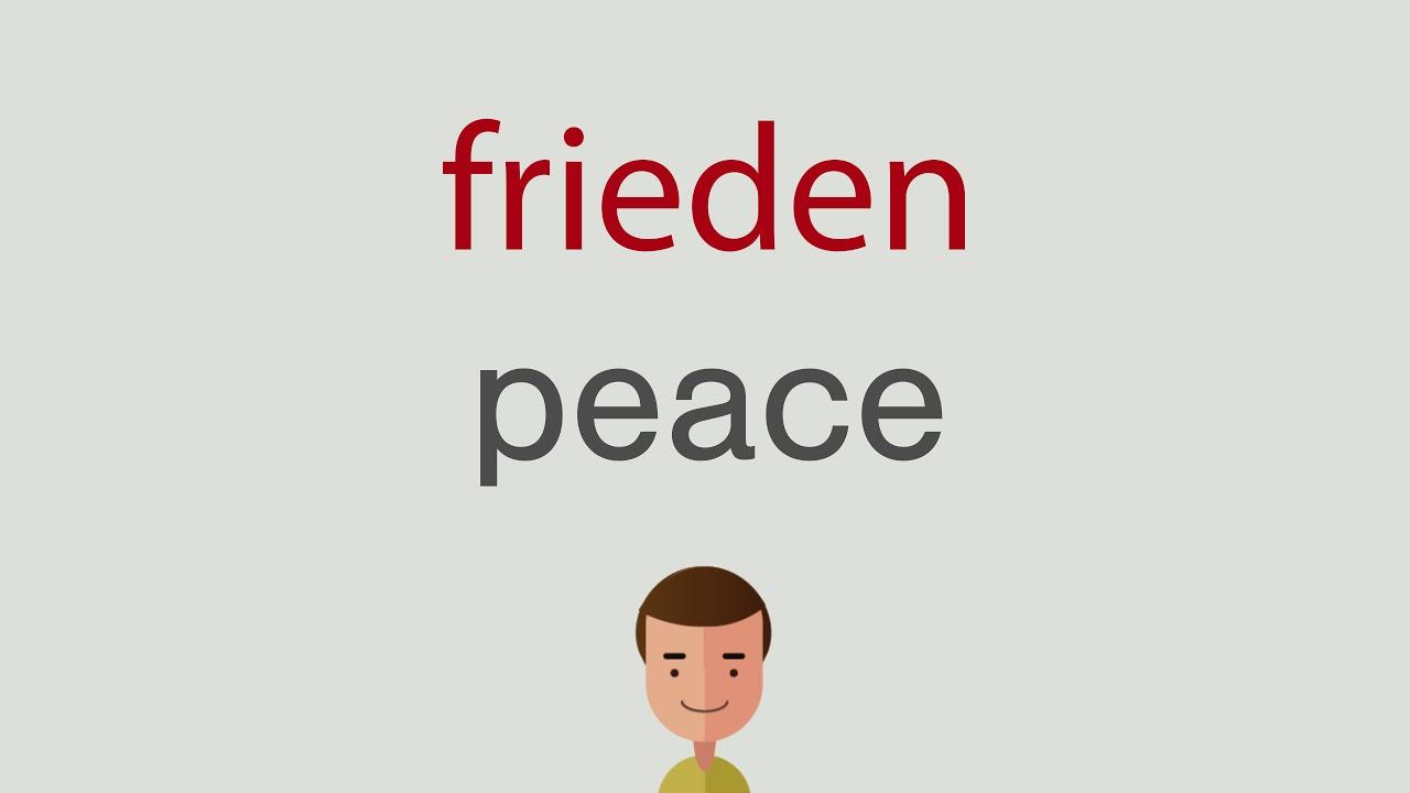 Frieden Auf Englisch