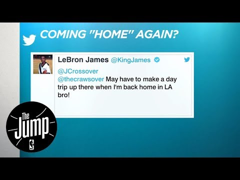 LeBron James Tweets 'Home In L.A.' | The Jump | ESPN