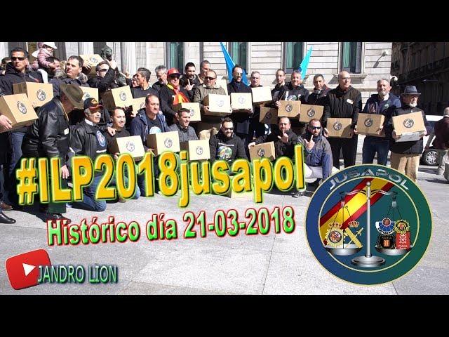 Entrega de la #ILPjusapol. La Iniciativa Legislativa Popular de @jusapol ya es una realidad.