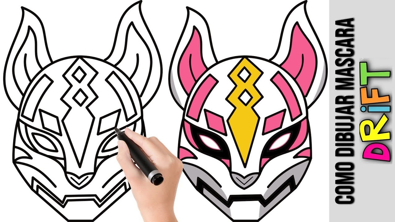 Como Dibujar Mascara Drift Deriva Fortnite Dibujos Fáciles Para Dibujar Dibujos Para Niños