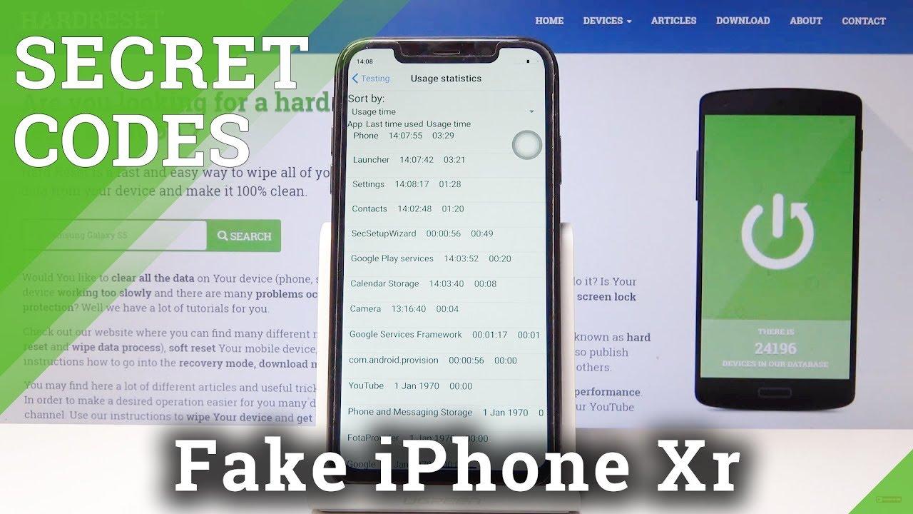Secret Codes for Fake iPhone Xr - Hidden Modes
