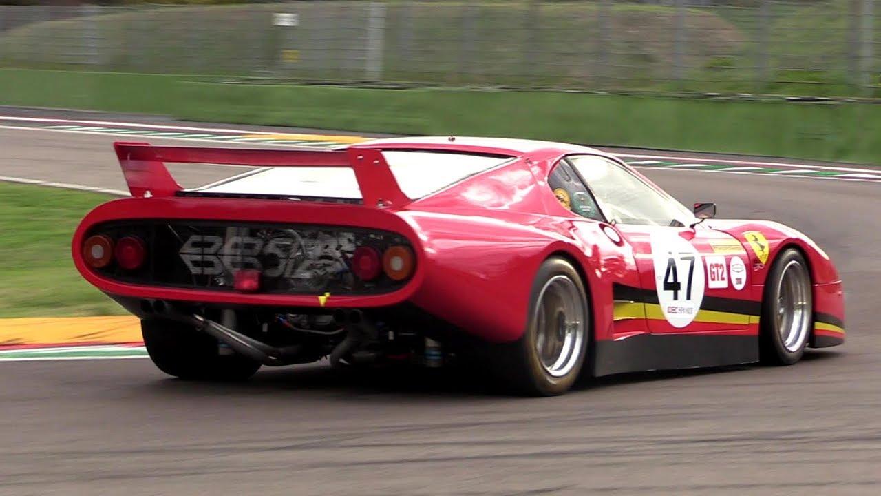 Ferrari 512 Bb Lm Flatout Track Action Pure Sound On Board Race Imola Classic Youtube