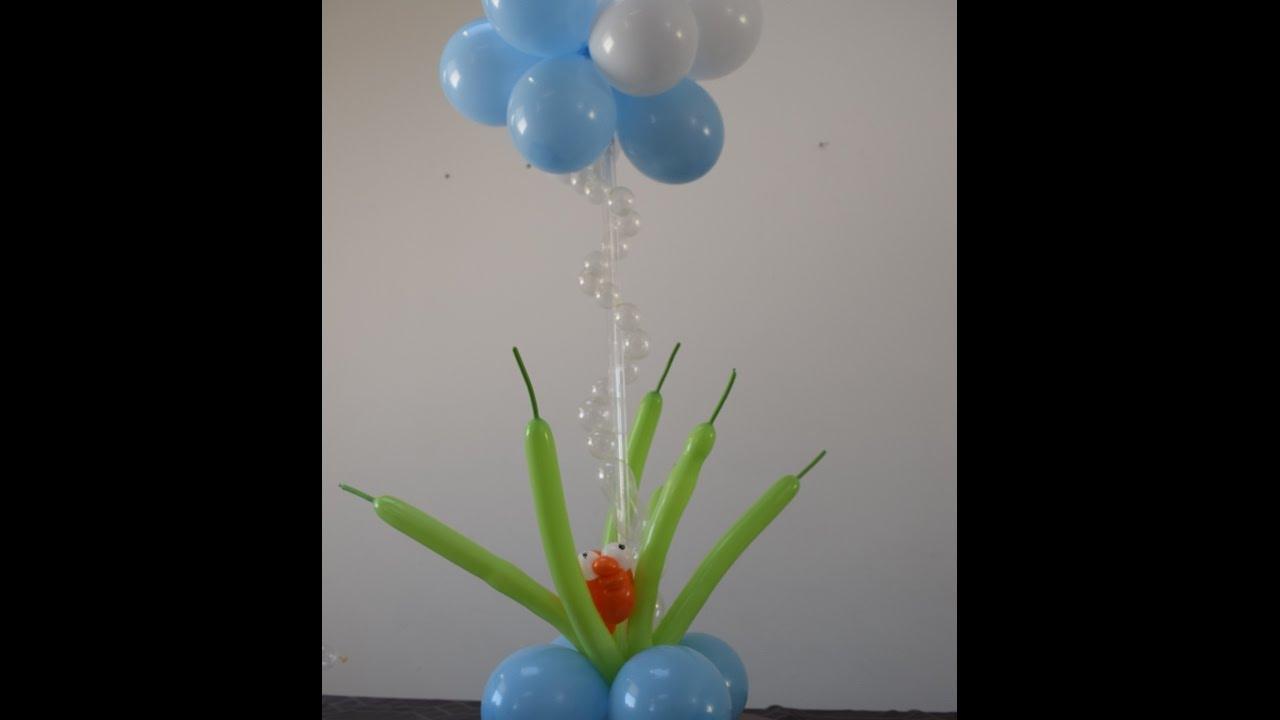 passo a passo tutorial de como fazer decoracao fundo do mar diy YouTube -> Decoração Com Balões Como Fazer Passo A Passo