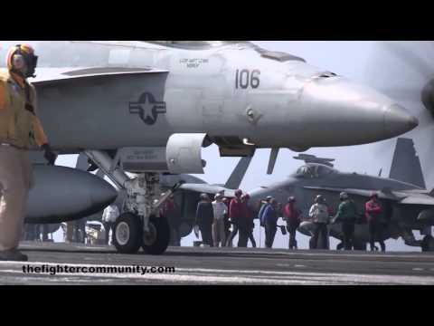 AIR OPS USS GEORGE H. W. BUSH, Arabian Sea 2014