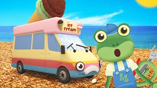 5 Big Trucks Song - Gecko Songs! | Kids Songs | Kids Learning | Truck Songs