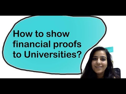 How to show financial proof to universities at different stages of admission?