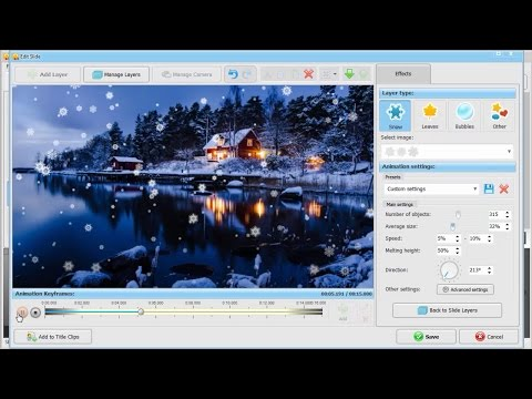 Realistic Falling Snow Animation – How to Add Snow Effect to Pictures & Videos