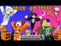 MINECRAFT HALLOWEEN TRICK OR TREAT Candy Run Challenge!?! 🎃 (Grim Reaper Hunt Mini-Game Map NO MODS)