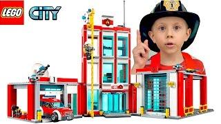 ЛЕГО СИТИ ПОЖАРНЫЕ и Пожарный вертолёт 60108. Пожарная машина с лестницей 60107 и Фургон 60117