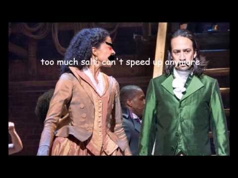 Congratulations but Everytime Angelica Roasts Hamilton it Gets Faster