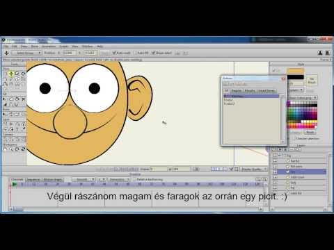 3 - Anime Studio Pro 9.5 - Fejfordulás (Smart Bones - Head Turn) magyar tutoriál