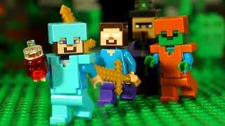 НУБик против ВЕДЬМЫ Мультфильм Лего Майнкрафт Лаки Блоки Троллинг Мультики Lego Minecraft Animation