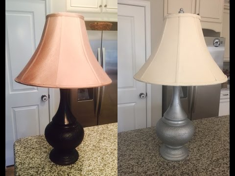 How To Chalk Paint A Table Lamp Youtube