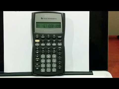 How to Calculate Present Value using TI BA II Plus