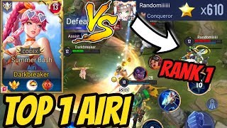 TOP 1 AIRI VS RANK 1 EU 600 STARS | AoV | 傳說對決 | RoV | Liên Quân Mobile