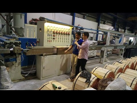 PVC Wire and cable manufacturing machine - YouTube