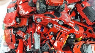 Box Full of red cars toys video for kids Mp3