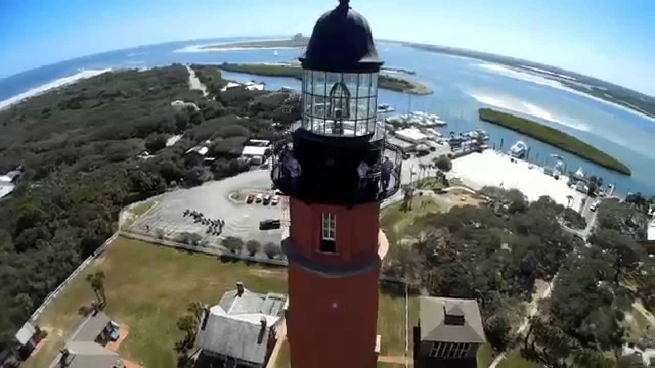 Ponce De Leon Inlet Lighthouse New Smyrna Amazing Florida Drone Scenery You