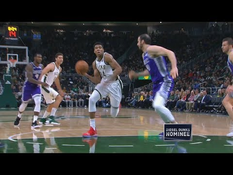 Giannis Triple Double Crazy Dunks vs Kings! 2018-19 NBA Season