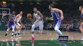 Giannis Triple Double Crazy Dunks vs Kings! 2018-19 NBA Season