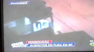 Datena Brasil urgente fuga de bandidos em motos.