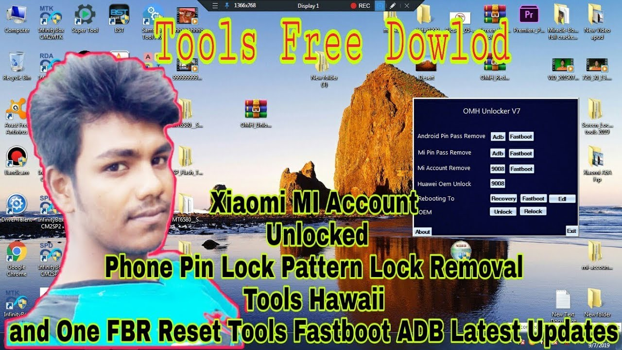 Xiaomi MI Account Unlocked Phone Pin Lock Pattern Lock Removal Tools হাওয়াই and One FBR Reset Tools