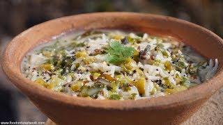 Kadhi Chawal | Traditional Indian Village Food | Indian Rice and White Kadhi
