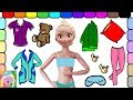 Download Play Dress Up With Elsa | Elsa Gets Ready For Bed | Learn Colors | Learn Simple Clothes Names