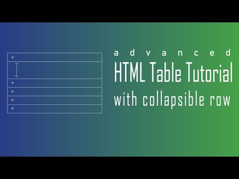 HTML Tables Tutorial | Advanced Collapsible Table Row With Bootstrap
