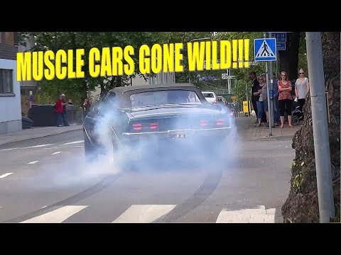 MUSCLE CARS Going Mad on City Streets!! - Lappeenranta Cruising 2019