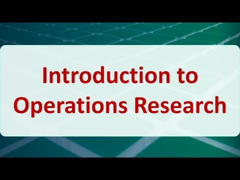 02 Introduction to Operations Research
