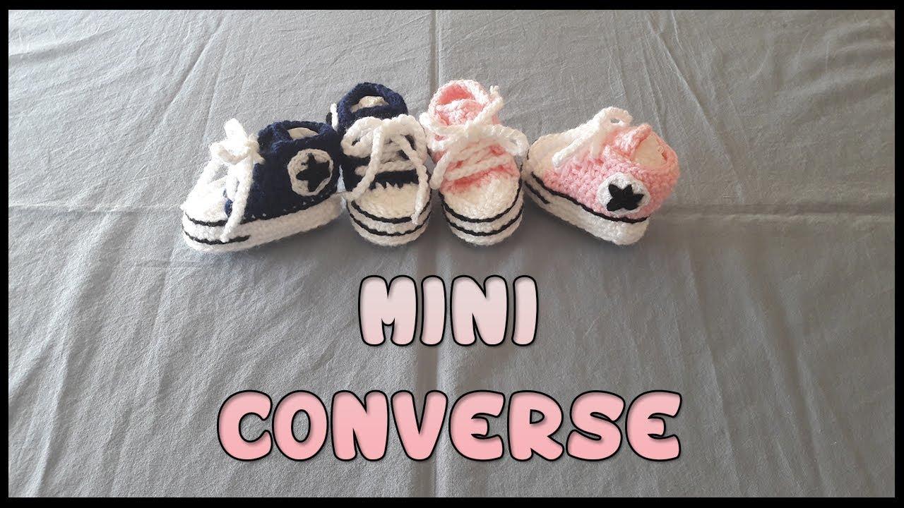 Mini Converse A Crochet