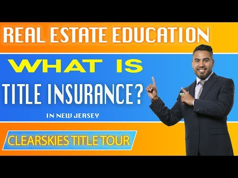 Real Estate Education, What is Title Insurance? How does Title Insurance Work? NJ #gizzycredit