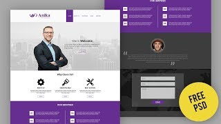 How to design template in Photoshop | Web UI/UX design Tutorial