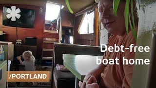 Debt-free Boat Tiny Home For Family Of 3 On Portland Island