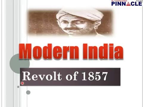 Modern India :  revolt of 1857 General Studies lecture Pinnacle Coaching