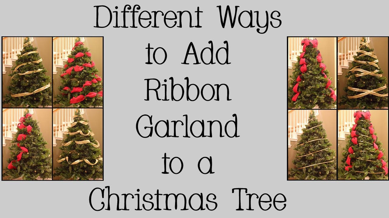 How To Put Ribbon On Christmas Tree.Different Ways To Add Ribbon Garland To A Christmas Tree
