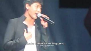 Junsu singing greatest love of all @ Junho's Singapore Showcase