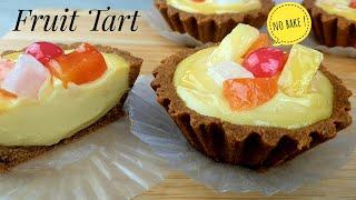 NO BAKE FRUIT TART(CUSTARD FILLING)