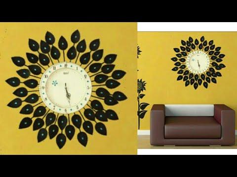 DIY Floral Designer Wall Clock/Diy wall clock/Wall Decor & Art/Room ...