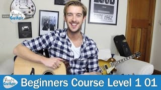 E Major Chord on Guitar - First EASY Guitar Chord  (Beginners Course Level 1 lesson 1)